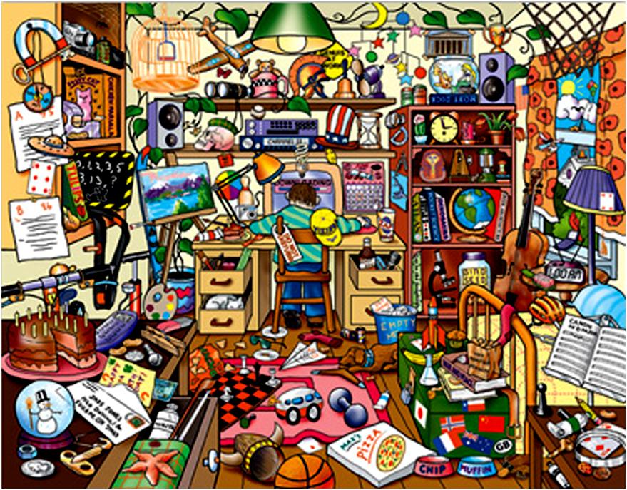 картинки много разных предметов повседневной жизни стиль